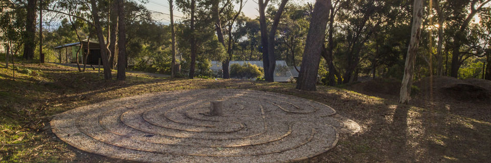 Labyrinth with trees