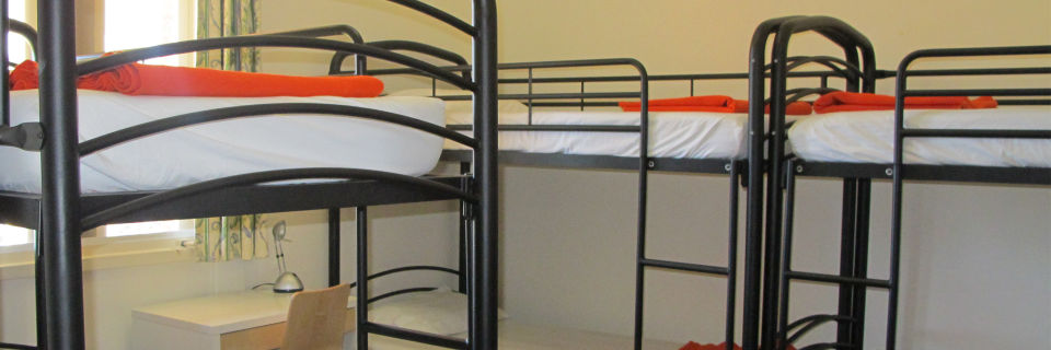 Bunk bed accommodation for 90 in the main building.