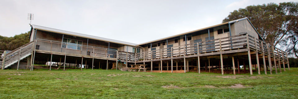 Main accommodation building