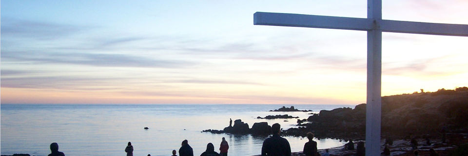 The cross overlooking the ocean